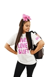 "Base ""Live, Love and Lift"" T-Shirt"