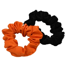 Black and Orange Scrunchie Set